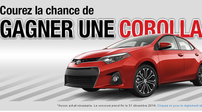 Corolla S 2014, concours, Toyota