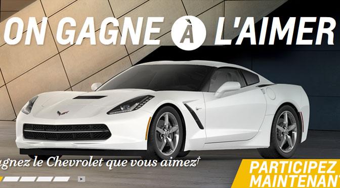 Chevrolet Corvette à gagner