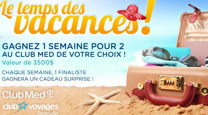 Club Voyage Dumoulin, concours 3 500$