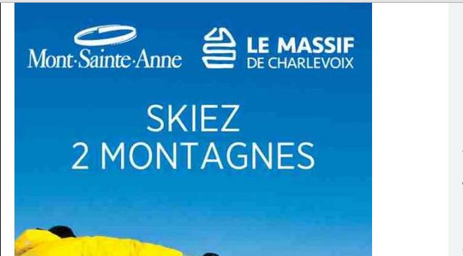 concours, skier, mont sainte-anne