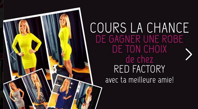 RED FACTORY, Les trouvailles de Sarah, concours, robes