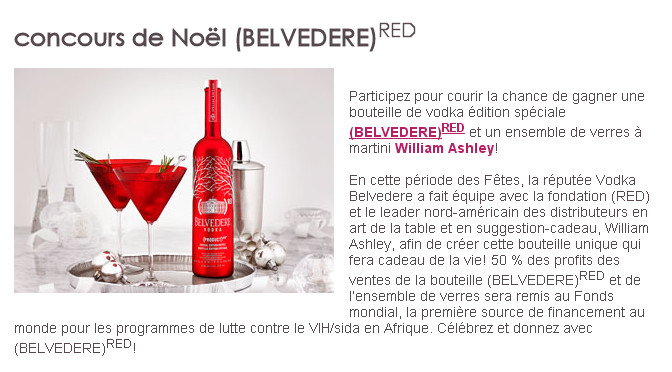 Belvedere, concours
