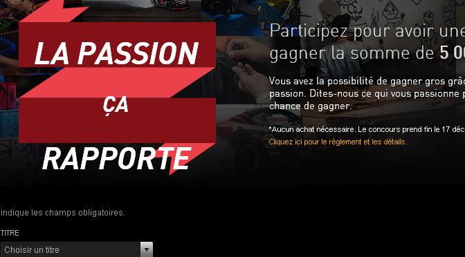 Passion, concours