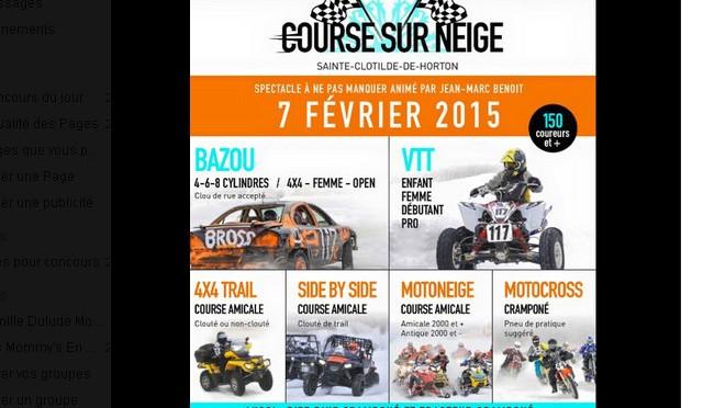 concours course sur neige