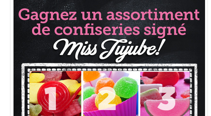 Miss Jujubes, concours