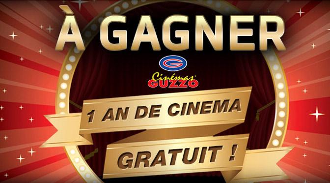 Concours 1an de cinémas Guzzo à gagner