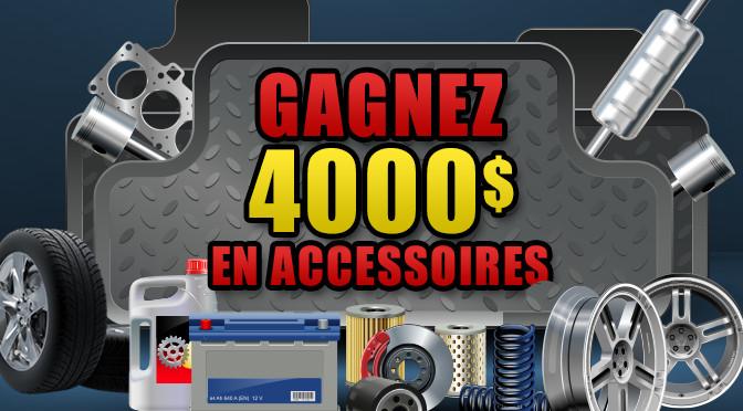 Concours 4 000$ en accessoires