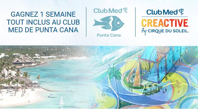 concours Club Med et Cirque du Soleil