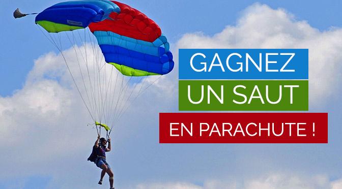 Concours gagnez un saut en parachute