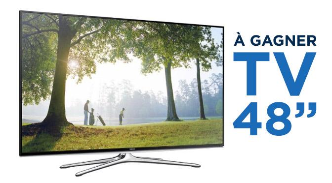 """Concours gagnez une TV 48"""""""