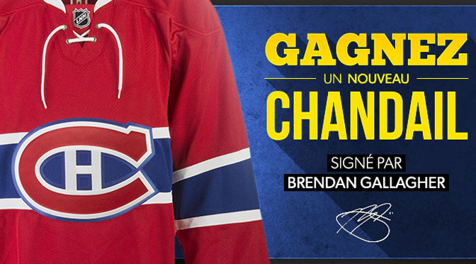 Concours chandail Brendan Galagher