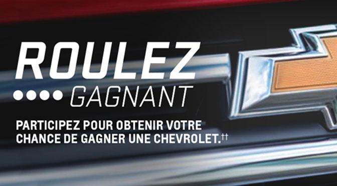 Concours Chevrolet Roulez Gagnant 2019