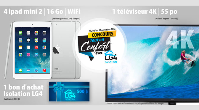 Concours Ipad et Tv4k