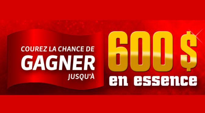 Concours 600$ d'essence