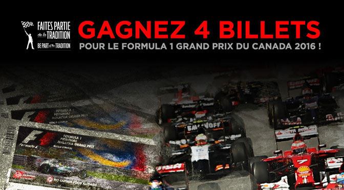 Concours Formule 1 Grand prix Canada