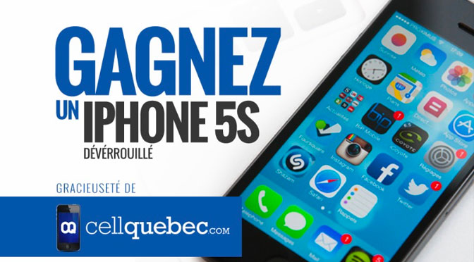 Concours CellQuebec Iphone5s
