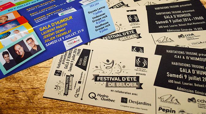 Billets concours festival été beloeil Gala Humour