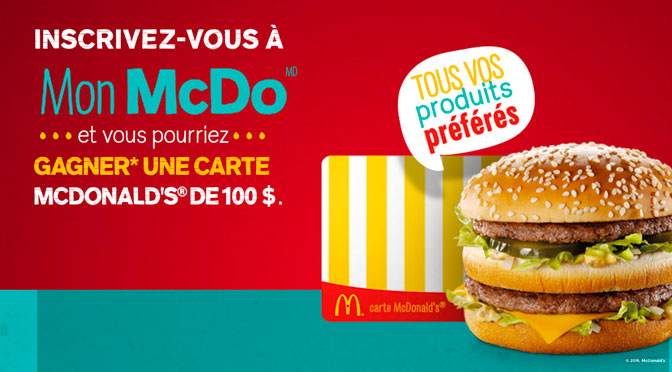 Concours Carte McDonald's