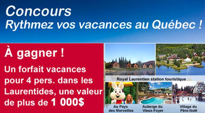 Concours Guide des vacances au Québec