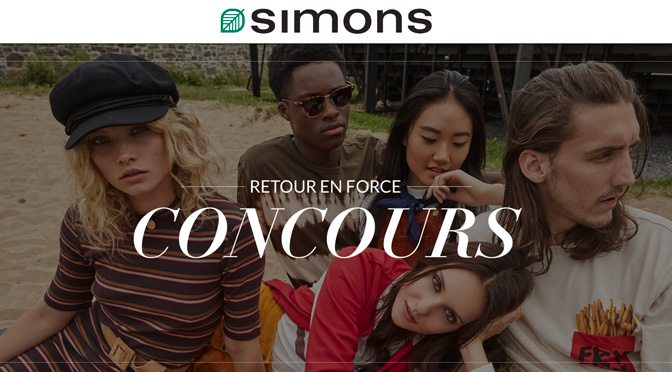 concours magasin Simons