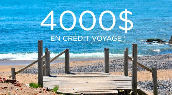 Crédit voyage de 4000$ concours les lauriers