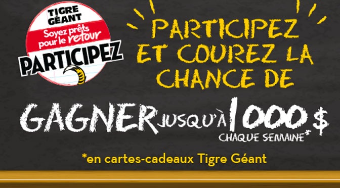 concours carte cadeaux tigre géant