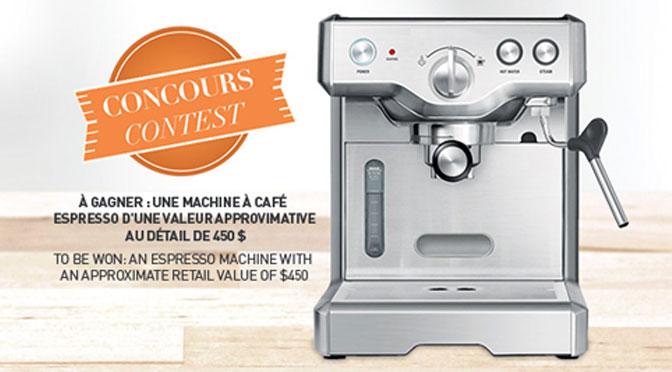 Concours Machine café expresso