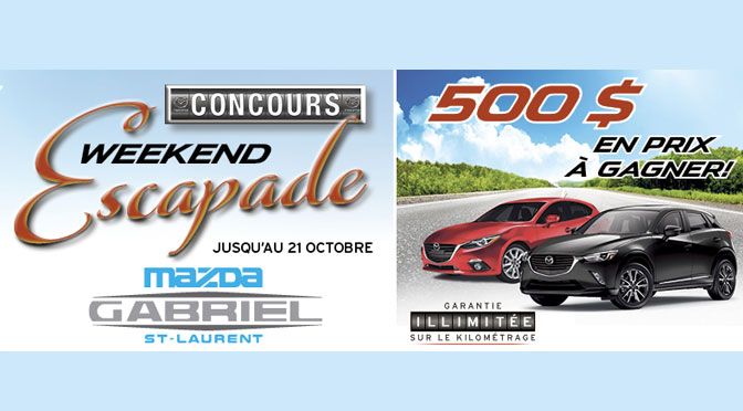 Concours Mazda Gabriel