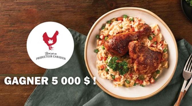 Concours poulet.ca 5000$ à gagner!