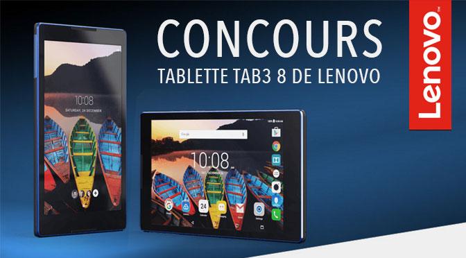 Concours Tablette Lenovo