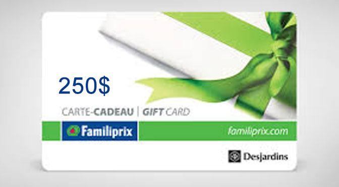 carte-cadeaux Familiprix