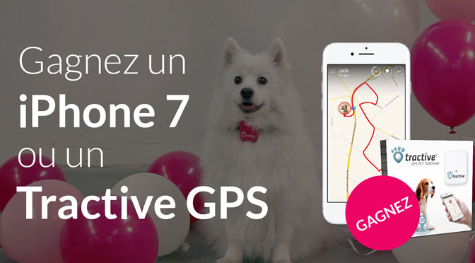 iphone 7 et tractive gps