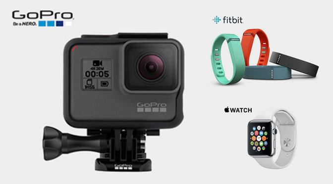 GoPro Apple watch, Fitbit
