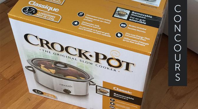 Mijoteuse Crock-Pot à gagner !