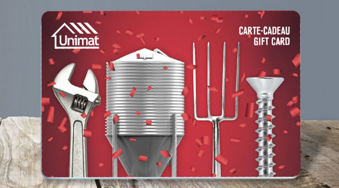 Carte-cadeau Unimat - concours