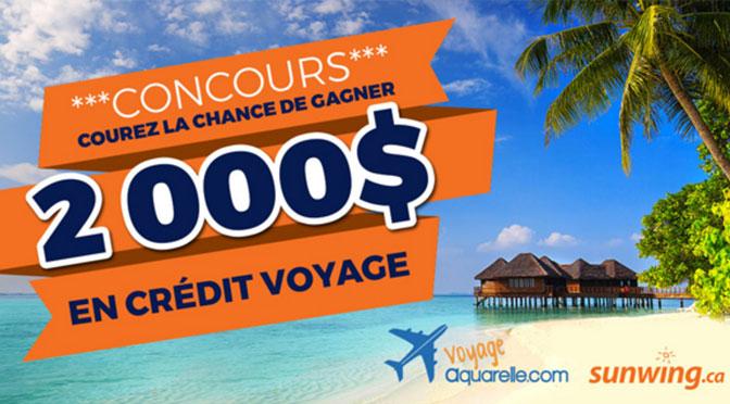 2000$ pour faire un voyage concours Voyage aquarelle