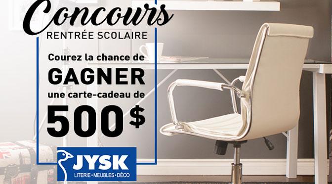 Concours Carte-Cadeau Jysk