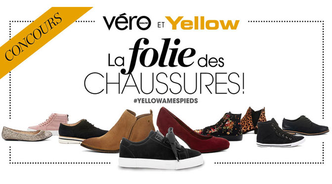 Concours Folie des Chaussures yellow
