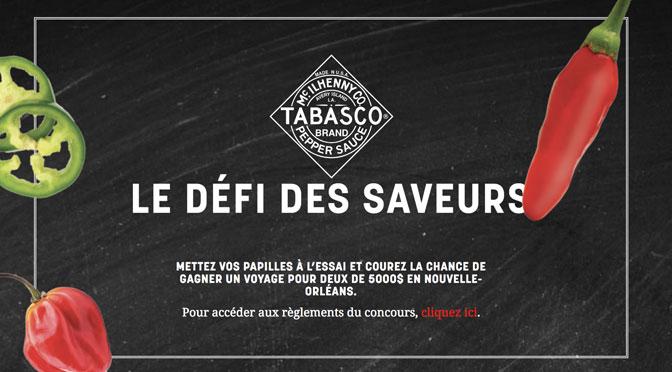 Concours Defi Saveur Tabasco