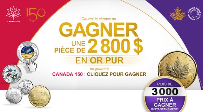 Concours pièce d'or monnaie royale canadienne