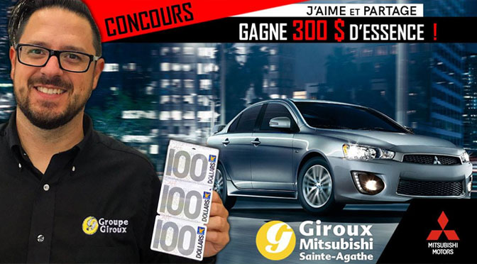 Concours carte-cadeau essence Giroux