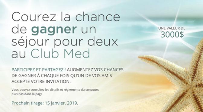 Concours Club Med Cinquieme Saison