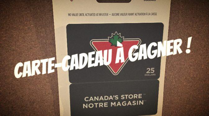 Concours Carte-Cadeau Canadian Tire