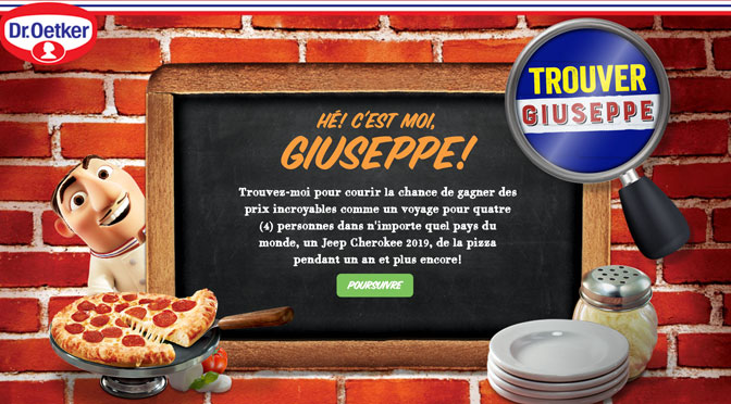 Concours Trouver Giuseppe Dr. Oetker