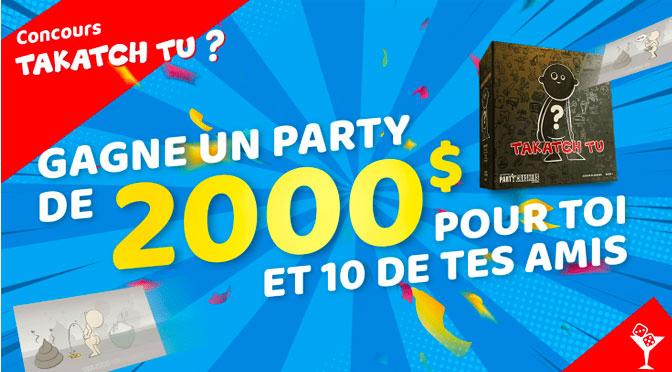 Un Party De 2000 A Gagner Incluant Une Gopro Hero 6 Concours Du Jour