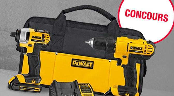 Concours d'outils Dewalt