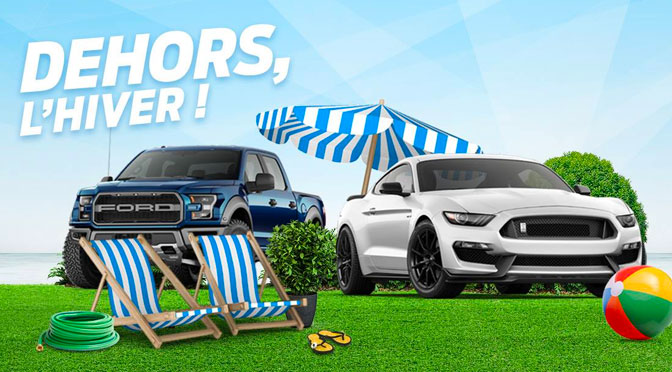 Concours Dehors l'hiver Ford - Carte Rona a gagner
