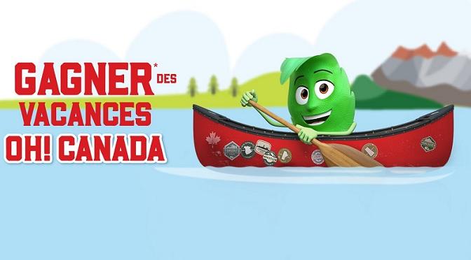 Ô Canada : Gagnez l'un des deux bons de voyage au Canada à 5000 $ chacun