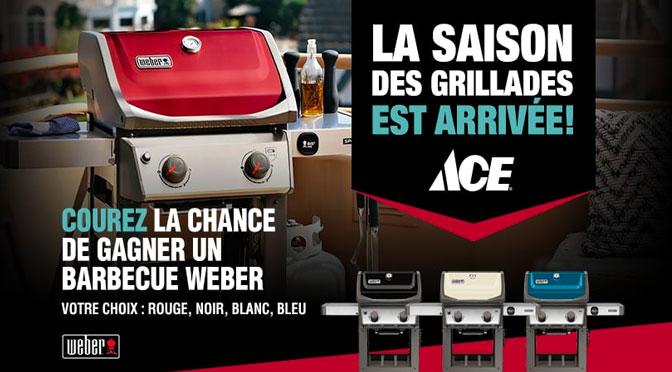 Concours BBQ Weber chez ACE.