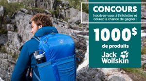 Gagnez des produits Jack Wolfskin au choix à hauteur de 1 000 $